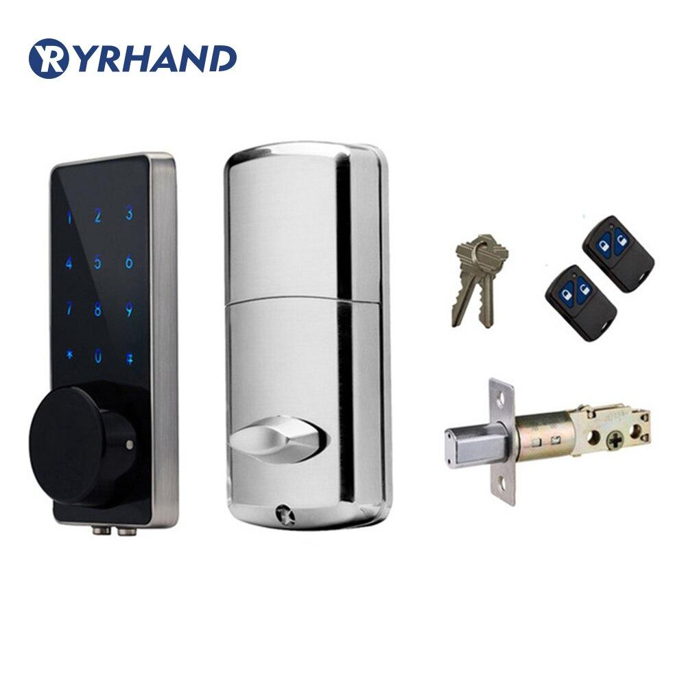 Serrure de porte électronique télécommande mot de passe clé mécanique écran tactile clavier numérique Code serrure entrée intelligente