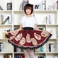 Sweet Short Kawaii Skirt Mucha Moon Goddess Printed Lolita Daily Short Skirt