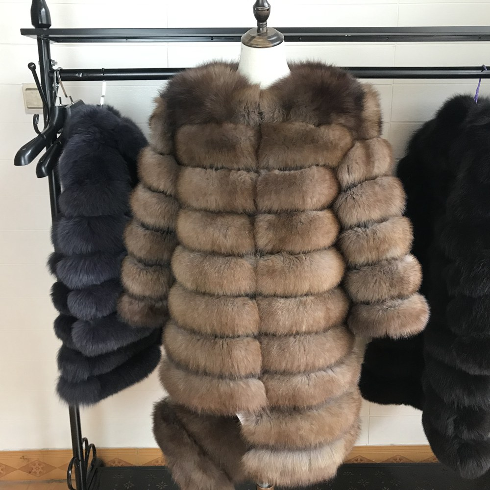 2019 Natural Fox Fur Coat Real Natural Women Winter Genuine Natural Fox Fur Coat With Fur Vest Girl Coat Womens Vests Fox Coat