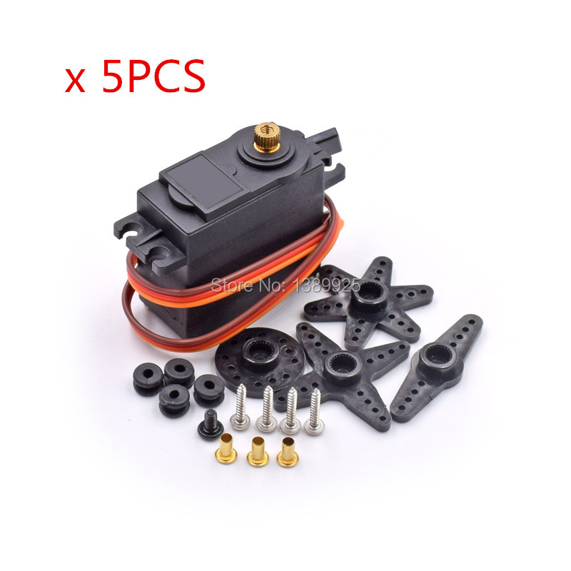 5pcs/lot MG995 55g Servos Digital Metal Gear Rc Car Robot Servo