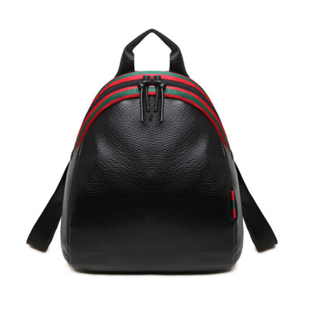 529f0f9264ee Classic ladies black shoulder bag new Korean version of the trend of simple  fashion college wind girl pu travel small backpack