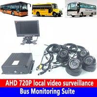 Gravação em Loop 4 canais 960 P pixels videovigilância Local Suíte de Monitoramento de ônibus Escolar Ônibus/carro pequeno/passageiro carro