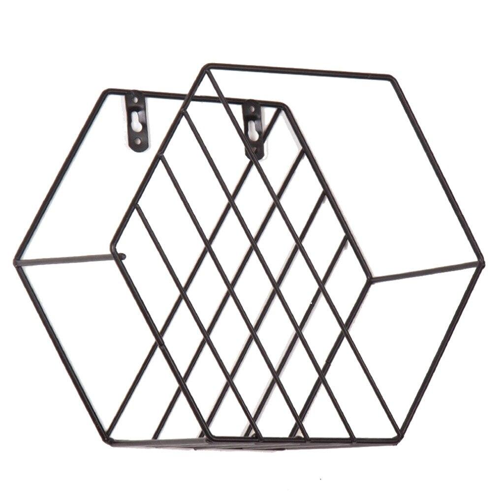 Honing Luraka Muur Gemonteerde Geometrische Metalen Opslag Plank Eenvoudige Display Rack Voor Thuis Decordropshipping 19apr23 Storageholder Planken