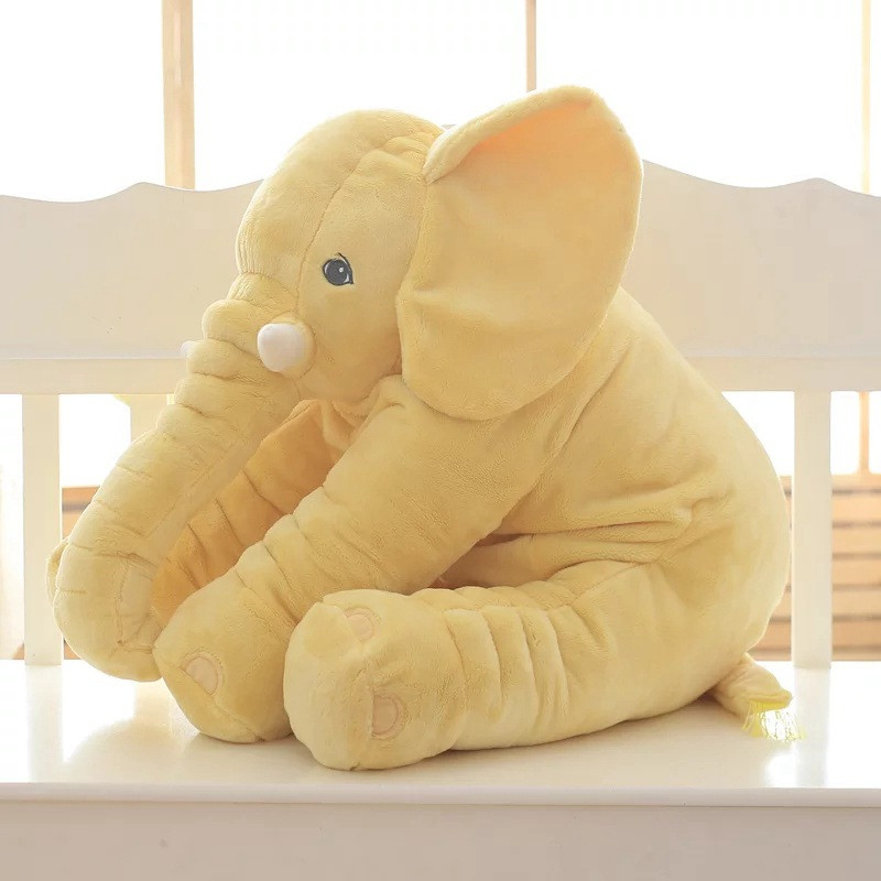Image 2 - CAMMITEVER 2 Sizes Baby Pillow Elephant Feeding Cushion Children Room Bedding Decoration Bed Crib Car Seat Kids Plush Toys-in Cushion from Home & Garden
