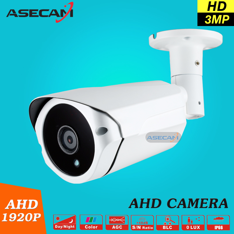 New Arrival Super 3MP HD 1920P AHD Camera Security CCTV White Metal Bullet Video Surveillance Waterproof 3* Array Night Vision wistino cctv camera metal housing outdoor use waterproof bullet casing for ip camera hot sale white color cover case