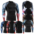21 Style MMA Men T Shirt Bodybuilding Clothing Compression Shirt Printing Crossfit Skin Tight Super Men Workout Bodybuilding 2XL
