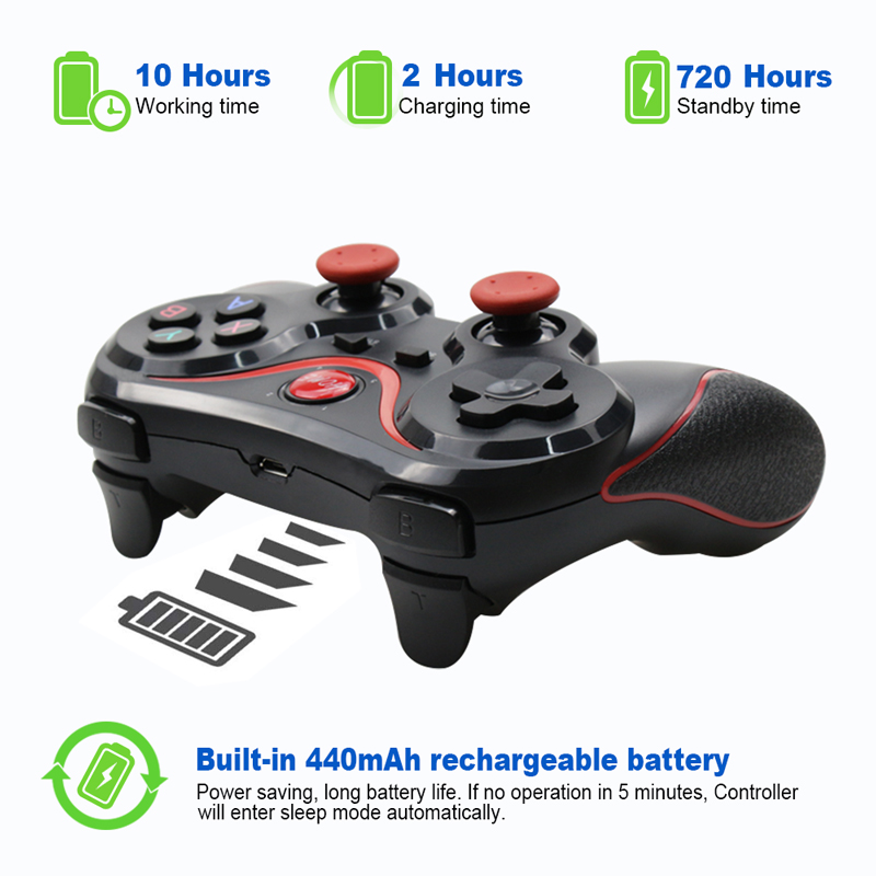 Wholesale Terios T3 X3 Wireless Joystick Gamepad Game Controller bluetooth BT3.0 Joystick For Mobile Phone Tablet TV Box Holder 1