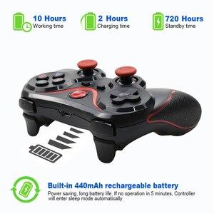 Image 2 - Groothandel Terios T3 X3 Draadloze Joystick Gamepad Game Controller Bluetooth BT3.0 Joystick Voor Mobiele Telefoon Tablet Tv Box Holder