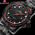 Men sport Watches top NAVIFORCE brand men's quartz watch waterproof military steel band  wristwatches for men relogio masculino