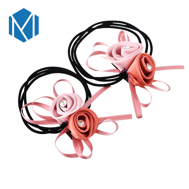 MISM Woman Girls Hair Band Floral Elastic Rubber Bands Children Hair Ropes Ponytail Holder Tie Gums Hair Accessories Decoration