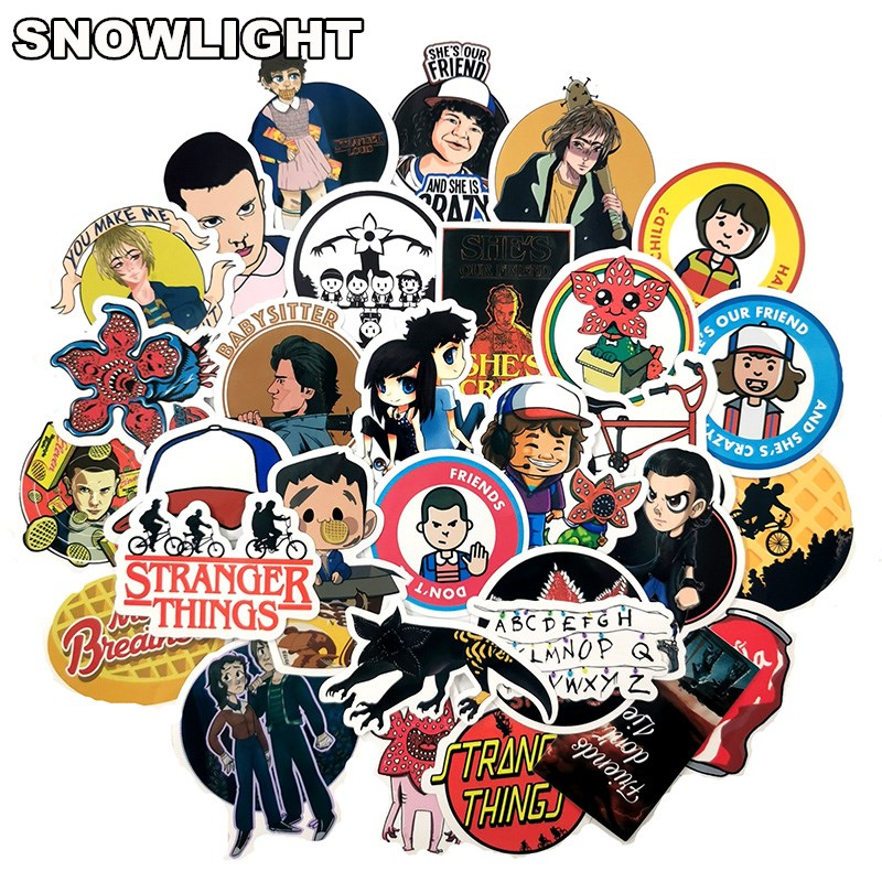 30 PCS Stranger Things Season 3 Stickers TV Movie Vinly Stickers For Wall Luggage Skateboard Laptop Water Bottle Decal 2019 New