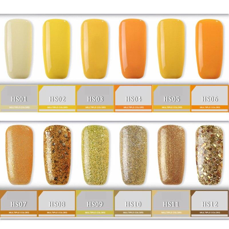 Yellow Gel Nail Polish Golden High Quality Long Lasting