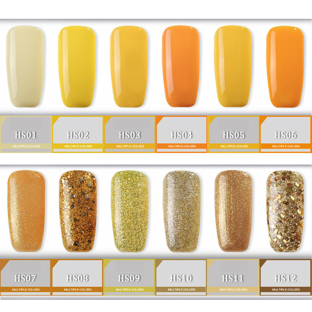 Yellow Gel Nail Polish Golden High Quality Long lasting Soak Off UV ...