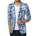 Камуфляж Пиджак Мужчины 2017 Новый Прибытие Костюм Homme Случайный Slim Fit Мужчины Blazer Дизайн Одной Кнопки Мужской Костюм Куртка 6XL