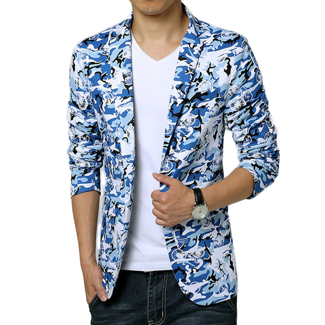 Camouflage Blazer Men 2017 Brand New Arrival Costume Homme Casual ...