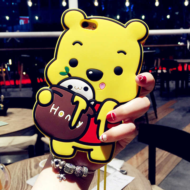 3D Winnie the Pooh Case For Samsung Galaxy Note 3 4 5 J2 J3 J5 J7 2016 2017 J5 J7 Prime On5 On7 G360 Silicone Phone Cover