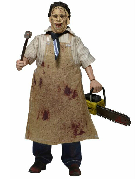 8 20CM NECA Texas Chainsaw Massacre Leatherface Clothed PVC Action Figure Collectible Toy WF021 neca the texas chainsaw massacre pvc action figure collectible model toy 18cm 7 kt3703