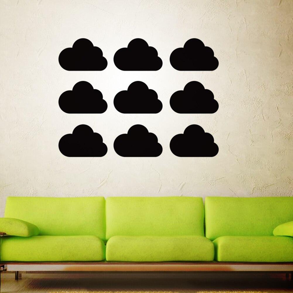 Foam Stickers Babykamer.Groothandel 1 Set Creative 3d Foam Zwart Cloud Muurstickers 5
