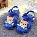 Baratos botton macio sandálias crianças dos desenhos animados do verão das crianças em sandálias sapatos das meninas dos meninos da criança do bebê