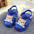 Cheap children's summer soft botton sandals kids cartoon in boys girls baby toddler sandals shoes
