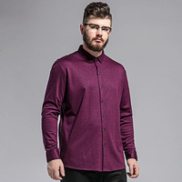 Spring And Summer New Large Size Men S Shirt Plus Fertilizer To Increase Solid Color Long