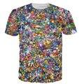 2017 Novo Homem T-shirt 3d Impresso Tees Hip Hop Estilo Casual camiseta de Mangas Curtas de Lazer Da Moda Tops Plus Size 5XL