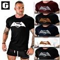 2016 Мужчины майка Супермен Super Hero 3D Отпечатано Мужчины Рукав Рубашки Бодибилдинг Повседневная Хлопок Фитнес Моды Один Кусок Одежды