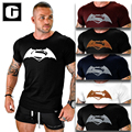 2016 Men T shirt Superman Super Hero 3D Printed Men Sleeve Shirt Bodybuilding Casual Cotton Fitness Fashion One Piece Clothing