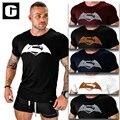 2016 homens t camisa superman super hero 3d impresso homens de manga comprida camisa de algodão de fitness musculação casuais moda roupas uma peça