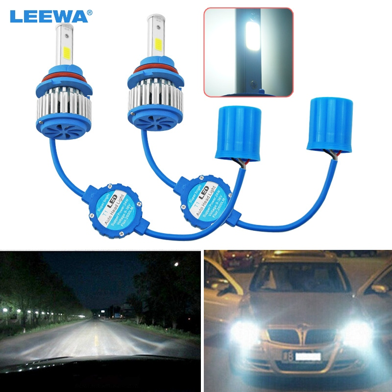 20X Bright 9004/9007 Hi/Lo 6000K All-in-One 48W 5200LM Car LED Headlights COB Chips Car Fog Light Bulbs Light Bult-in Fan