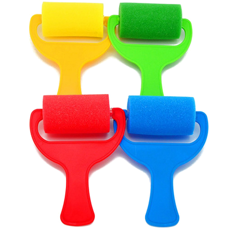 Set of 4pcs Sponge Brush Paint Roller Kid Art Craft Painting Tool ...