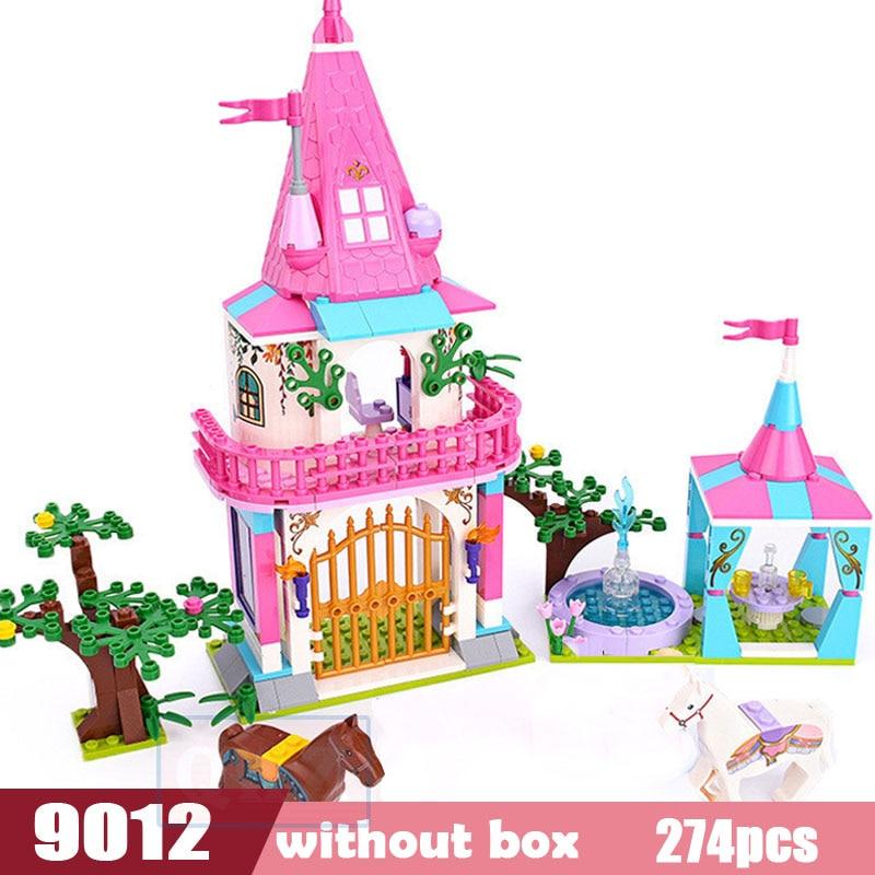 Legoes город девушка друзья большой сад вилла модель строительные блоки кирпич техника Playmobil игрушки для детей Подарки - Цвет: 9012 without box