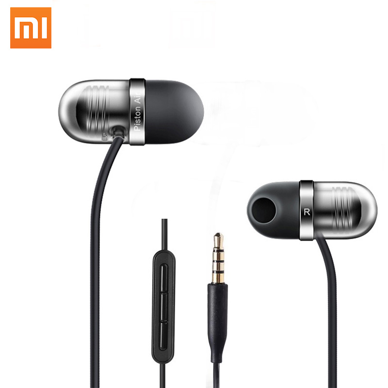 New 100% Original Xiaomi Piston Air Capsule Earphone Headset with Mic Remote In-ear for Xiaomi Mobile Phone Android Computer PC original xiaomi xiomi mi hybrid earphone 1more design in ear multi unit piston headset hifi for smart mobile phone fon de ouvido
