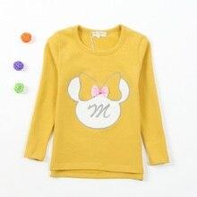 Новое поступление; свитер из хлопка с украшением в виде банта; свитер для девочек; Moleton Meninas Sudaderas Minos; сезон весна-осень; KF505