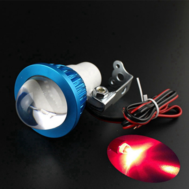 12-80V Universal bright LED Strobe motorcycle headlight Indicator Fish-eye lights@118