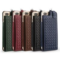 Top Quality Luxury Fashion Retro Hand Woven Long Strap Card Slot Bag Design Flip Wallet Leather