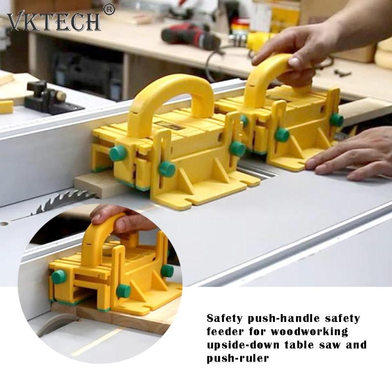 3D Safety Pusher Woodworking Flip Table Saw Vertical Milling Planer Saw Pusher Safety Feeder Woodworking Tools