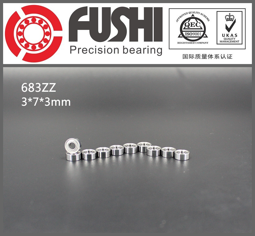 683ZZ Bearing ABEC-7 10PCS 3x7x3 mm Miniature 683 ZZ Ball Bearings 618/3ZZ EMQ Z3V3 High Quality 6903zz bearing abec 1 10pcs 17x30x7 mm thin section 6903 zz ball bearings 6903z 61903 z