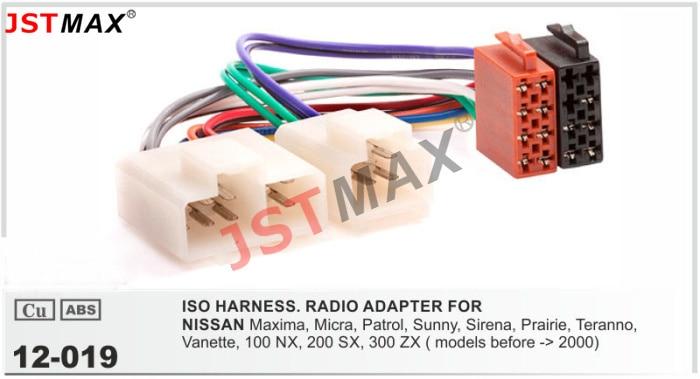 Nissan Patrol Radio Wiring Harness : Iso radio plug for nissan maxima micra patrol sunny