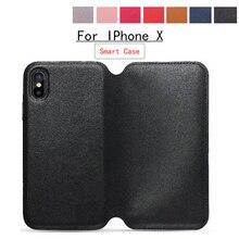 Для iphone х чехол iPhone X Роскошный Фолиант Смарт сна Флип кожаный чехол для телефона IPhone X карты Бумажник задняя чехол для iPhone 10