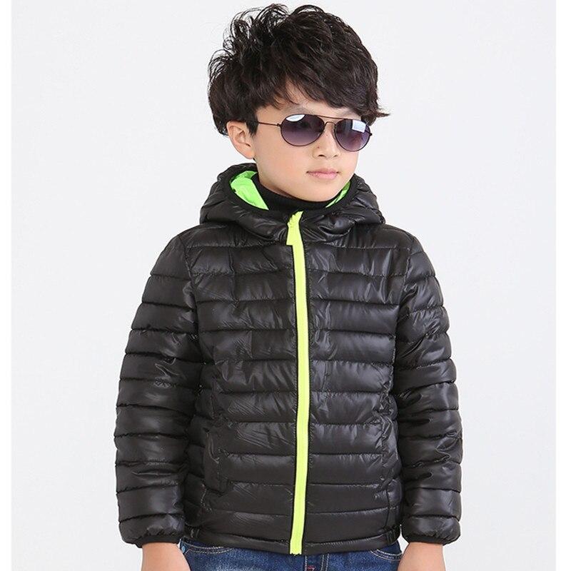 Boy Cotton Jacket Winter Warm Children Autumn And Winter New Girl Cotton Jacket Baby Down Jacket  Hooded Short Jacket