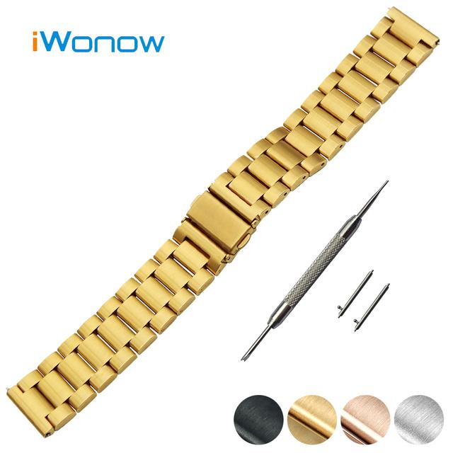 Pulseira de aço inoxidável quick release 18mm para huawei watch/fit honor s1 folding buckle strap banda de pulso do cinto pulseira + ferramenta