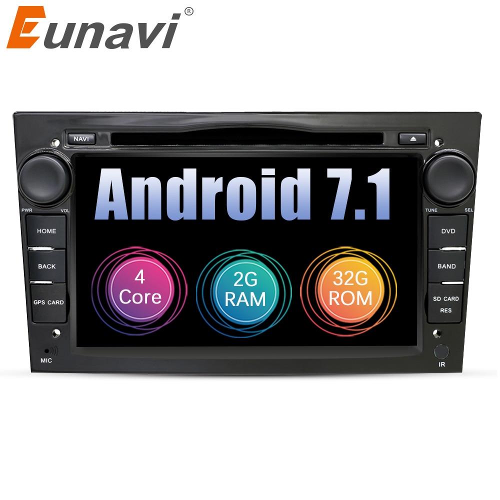 Eunavi 2 Din Quad Core Android 7.1 Car DVD Radio Player Per Opel Astra Vectra Zafira Antara Corsa di Navigazione GPS wifi Bluetooth
