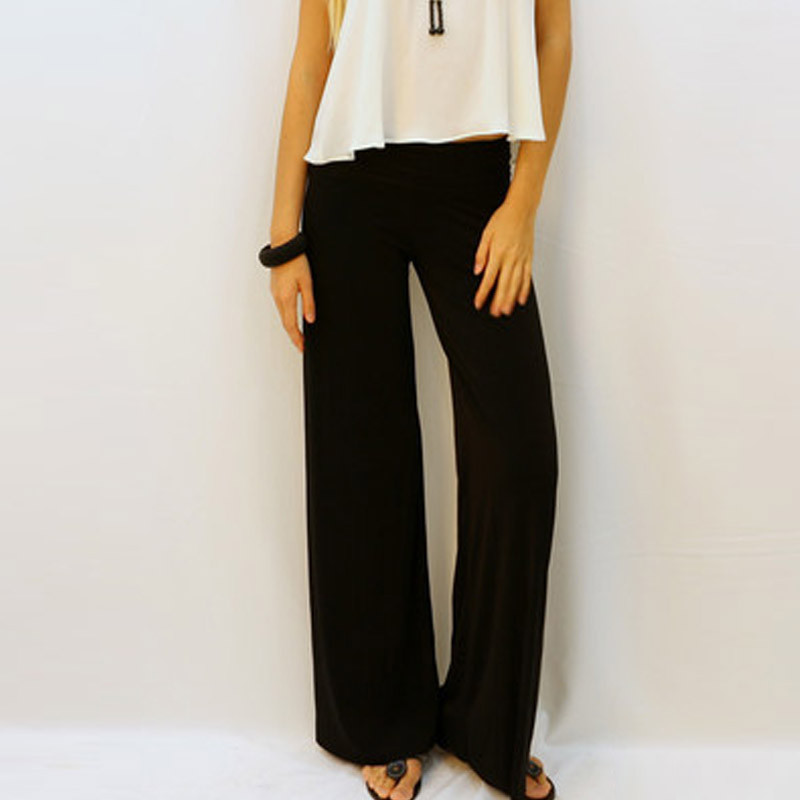 Cool Loose Women Casual Folded Black Pants  Buykud