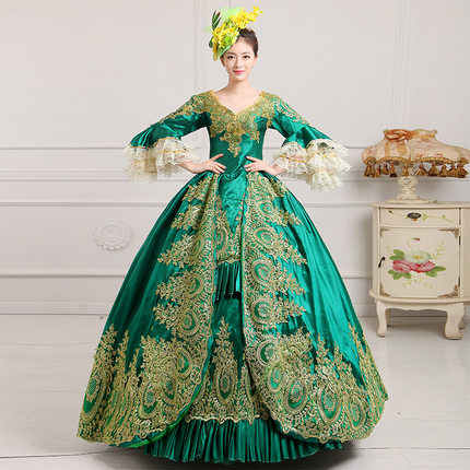 9bdce9febb9 Ladies Deluxe Medieval Costume Tudor Queen Marion Womens Fancy Dress Outfit