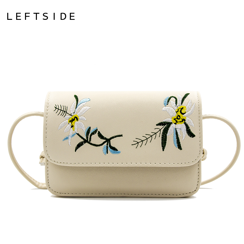 LEFTSIDE New 2017  Fashion Embroidery Women CrossBody Bag Purse shoulder Bags Small handbag Women Messenger Bags