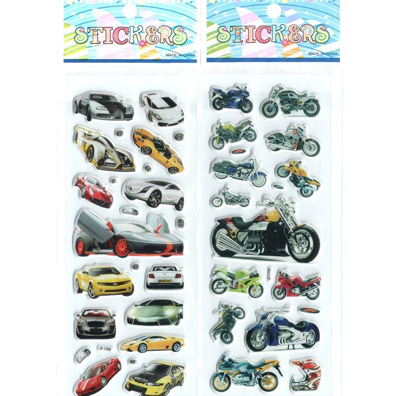 2 teile/los Kinder Jungen Verschiedene Autos und Motorrad 3D Cartoon ...