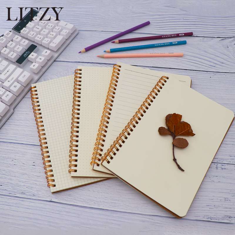 A5 Bullet Journal Notebook Cowhide paper Sketchbook Paper Weekly Planner Accessories Stationery Diary Agenda Travel все цены