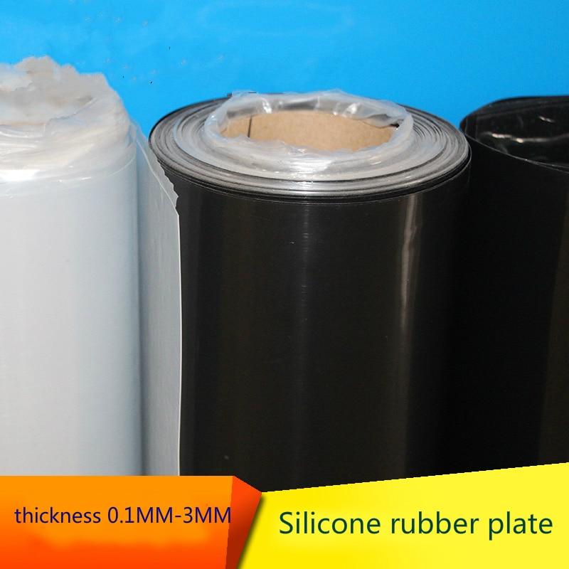 Silikon gummi blatt 0,1 0,2 0,3 0,4 0,5 0,6 0,8 1,0 1,2 1,5 2 3mm dicke 500*500mm breite bord Isolierung thermotolerace