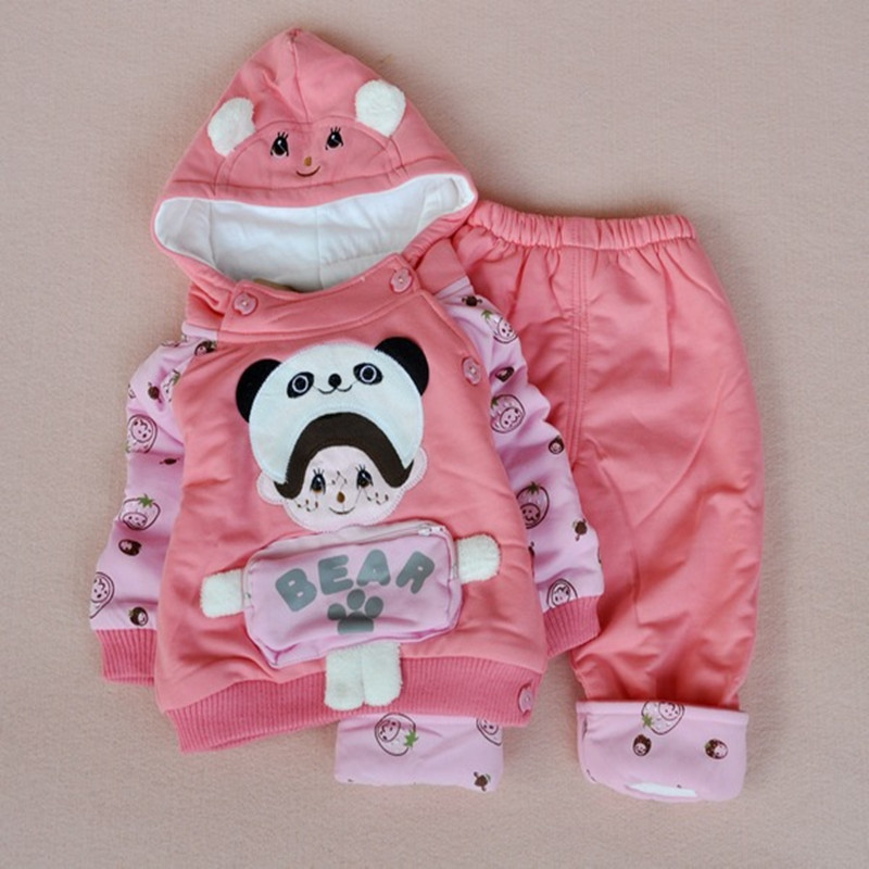 Anlencool 2017 Baby Cotton Valley Pitti clamping dimensional pocket new suit baby clothing newborn baby girl winter clothes